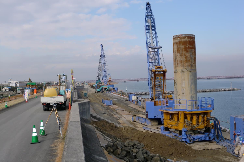 某高潮堤防補強工事先行置換工事