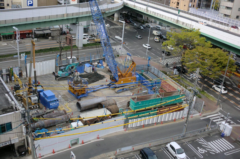 名古屋市某ホテル新築計画 地中障害撤去搬入しました