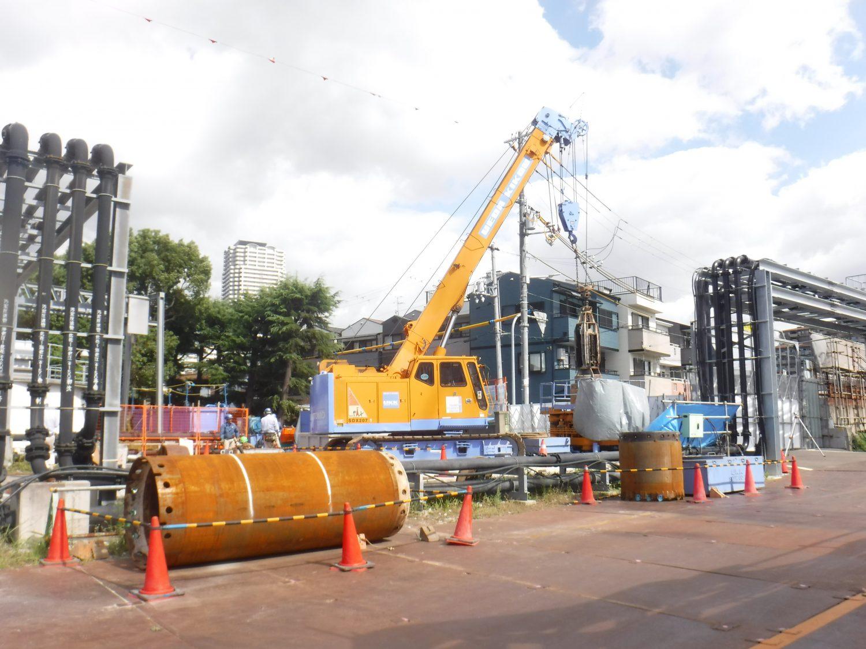 大阪市某下水処理場 地中障害撤去現場 搬入しました