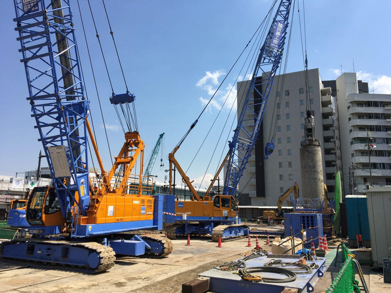 富山県某ホテル新築工事 地中障害撤去