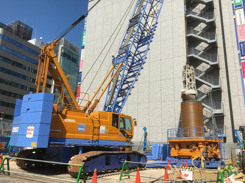 兵庫県神戸市某ビル新築工事 地中障害撤去