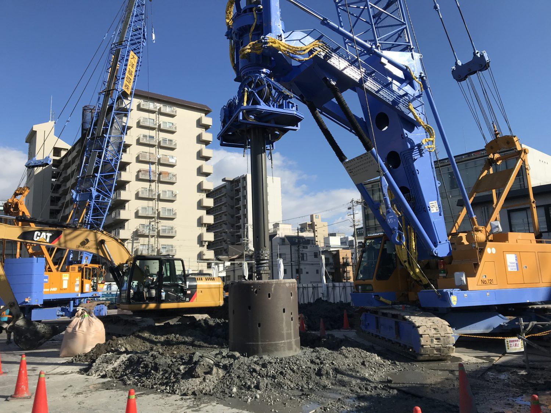 大阪市某ビル新築工事